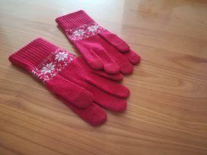 【無印良品福袋】雪柄タッチパネル手袋