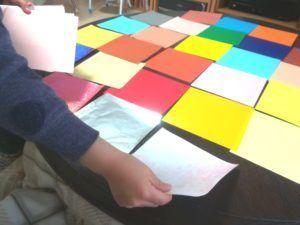 折り紙の色選び