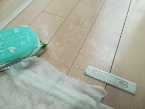 ウェットティッシュで拭き掃除