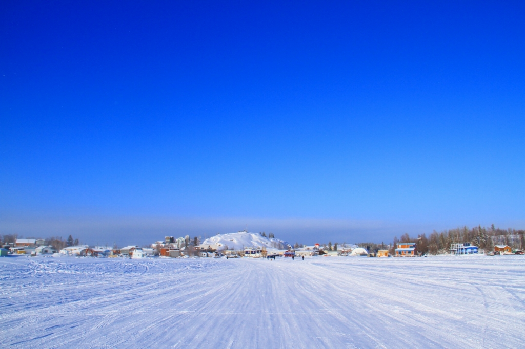 冬のグレートスレーブ湖(Great ...
