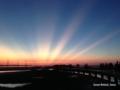[夕焼け][dawn][海][空][台湾][高美湿地][GaomeiWetlands]台湾にて。台中 清水區 高美湿地の夕暮れ。2017/9/11