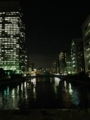 [夜景][ビル]夜景ビルと水。2013/10/7