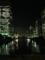 夜景ビルと水。2013/10/7
