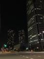 [夜景][ビル][道路]夜景。ひとの見当たらないビル街。2013/10/7
