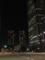 夜景。ひとの見当たらないビル街。2013/10/7