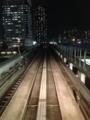 [夜景][ビル][東京モノレール]夜景とレール。2013/10/7