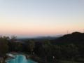 [ホテルセキア][夕焼け]客室からの風景。夕暮れ。2013/10月