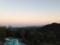 客室からの風景。夕暮れ。2013/10月
