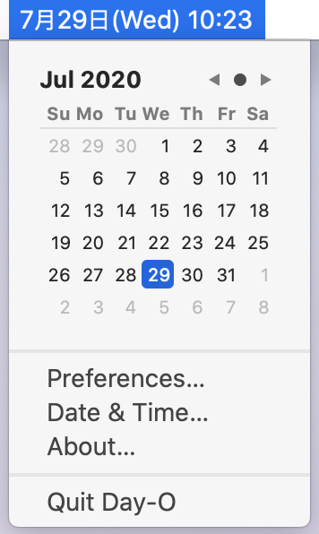 Mac用 デスクトップカレンダーアプリ Day-O 2