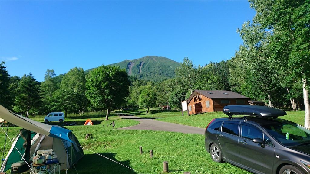 まっかりキャンプ場 羊蹄山も見えます