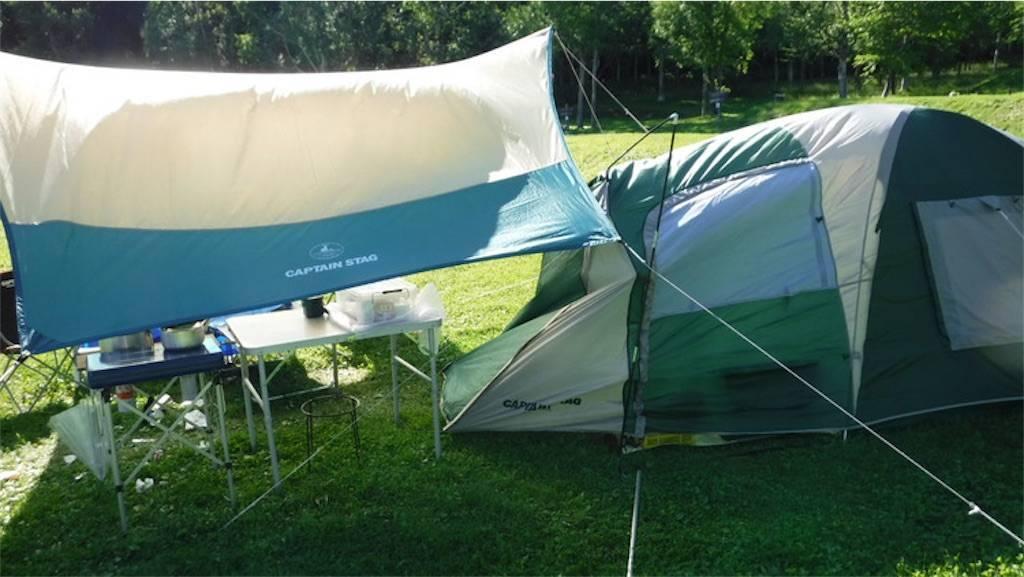 真狩村キャンプ場 テント