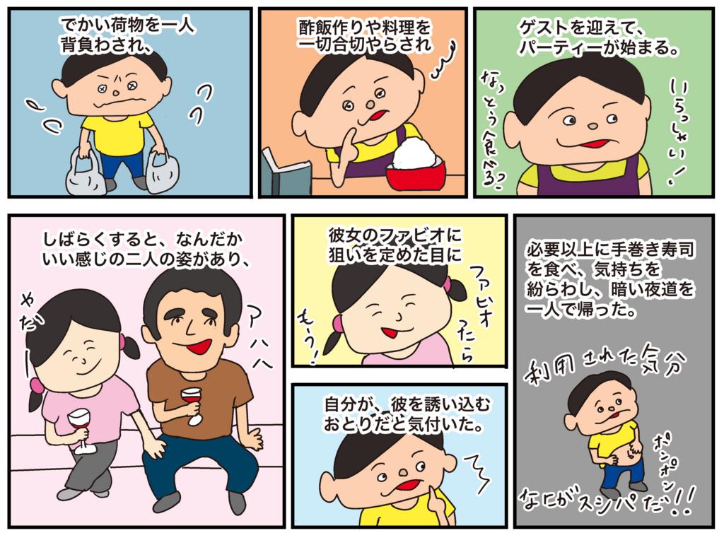 留学生の手巻き寿司パーティー