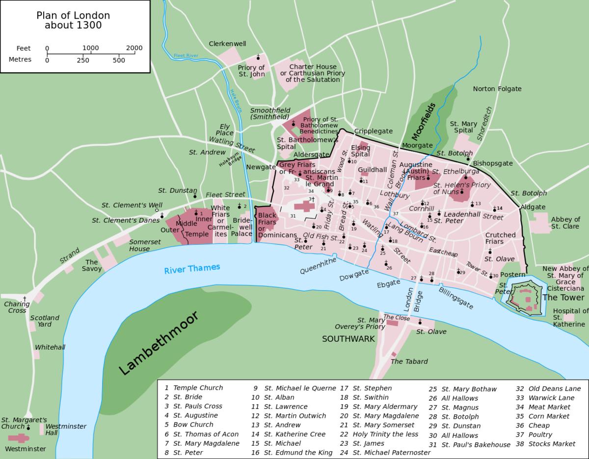 1300年頃のロンドン