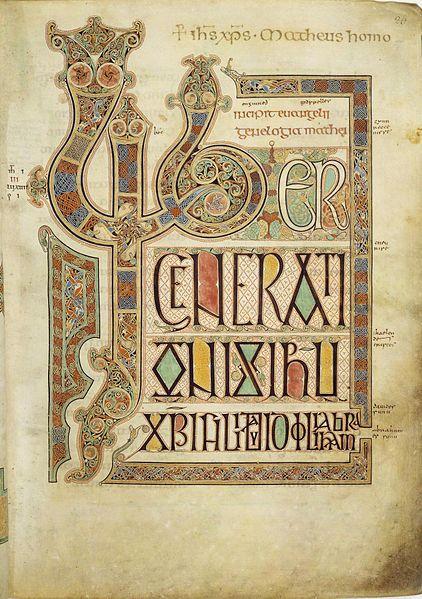 ラテン語の写本『ケルズの書』より装飾文字