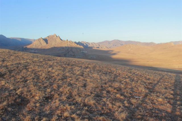 モンゴルのステップ地帯。秋ごろに撮影。