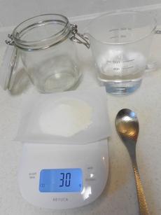 粉せっけんそよ風を使ったプリン状石鹸(おそうじ石鹸スライム)の材料