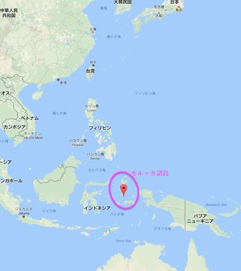 モルッカ諸島地図
