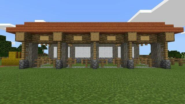 マインクラフト馬小屋完成