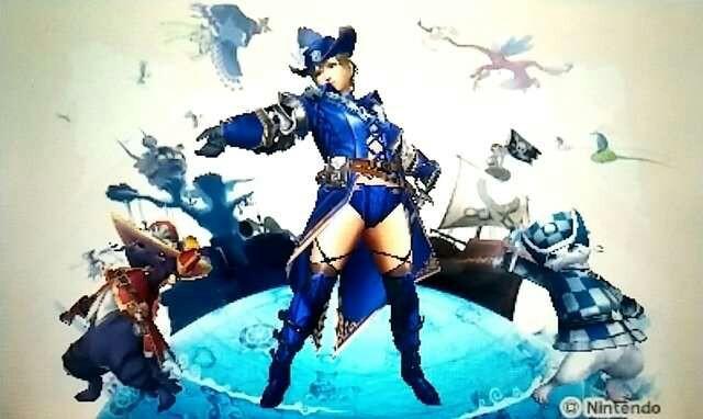 MHXX剣士の見た目装備_青の女海賊風
