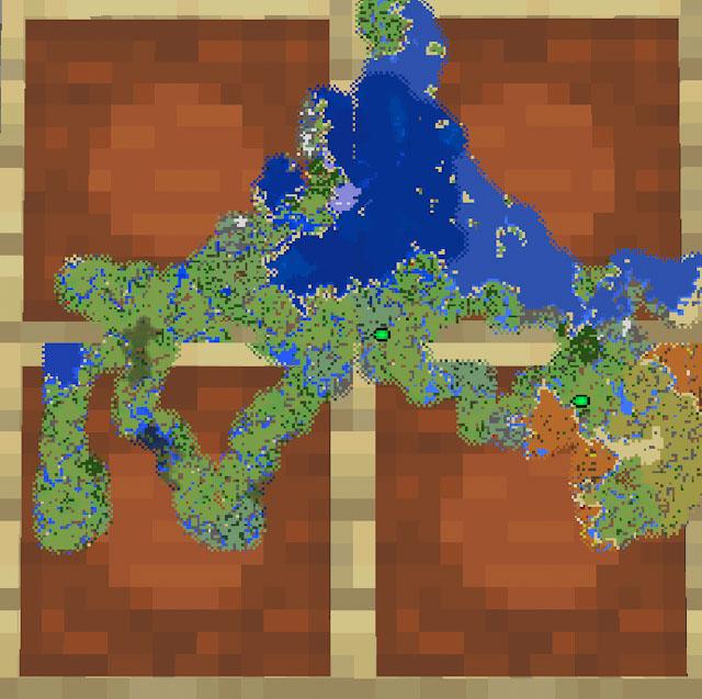 マイクラの地図