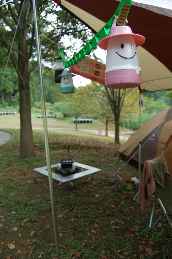 キャンプ LEDランタン スマイルランタン