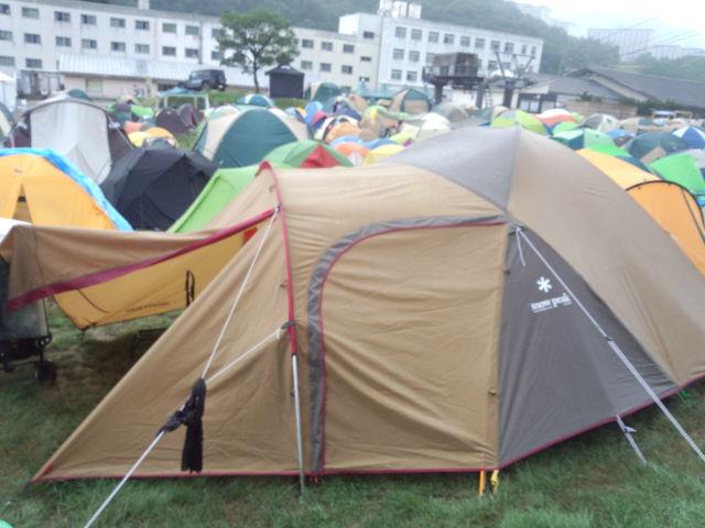 子連れフジロック キャンプサイト