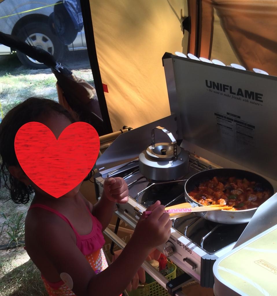 子どもとキャンプでお料理