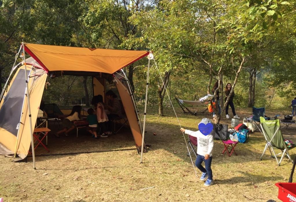 子どもと秋キャンプサイトレイアウト