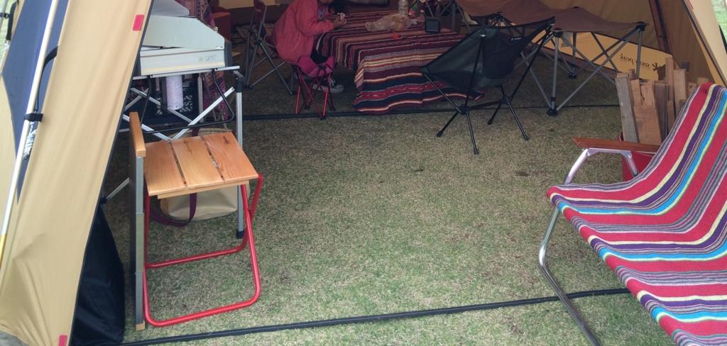 カステルメルリーノ 折りたたみチェア キャンプの定位置