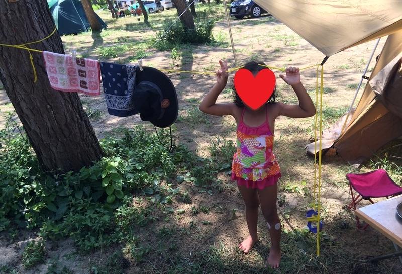 海キャンプ熱中症対策