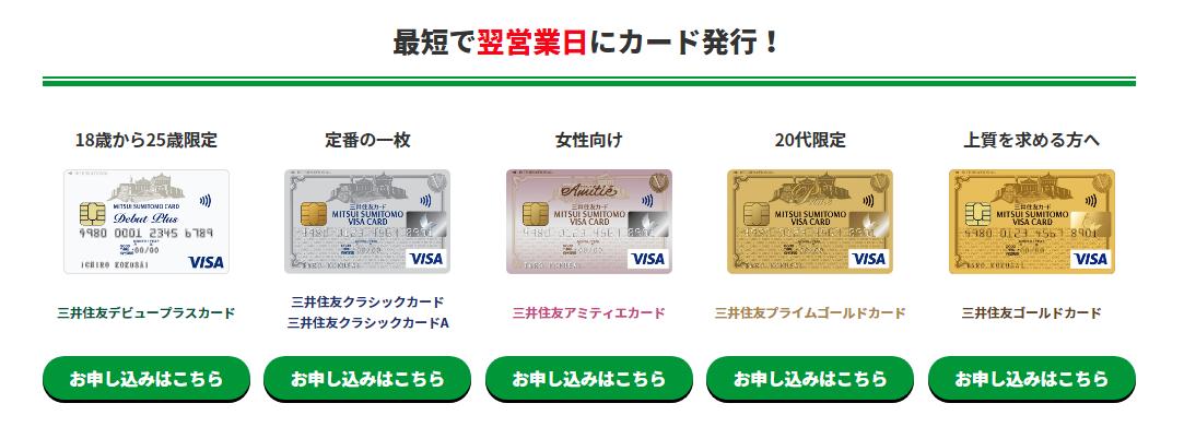 20パーセント 三井住友 対象カード