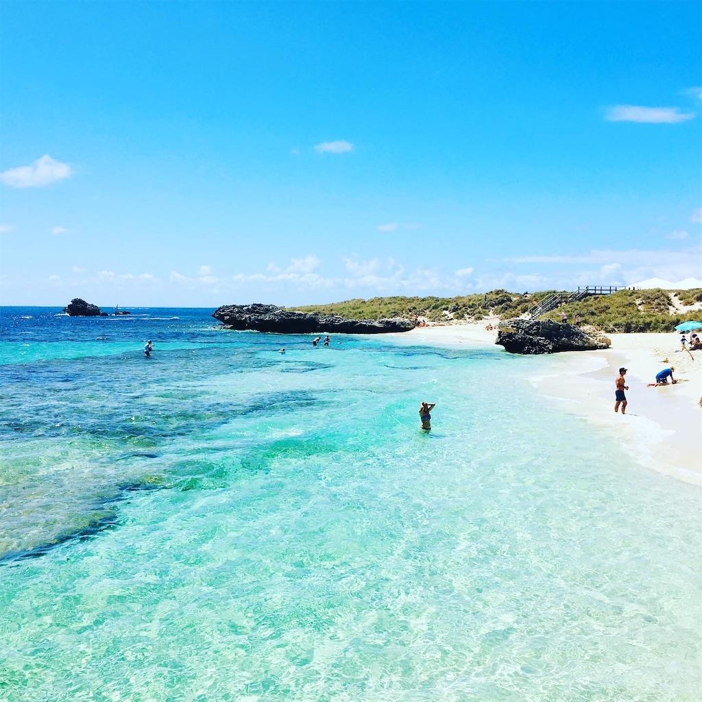 ロットネスト島のビーチ