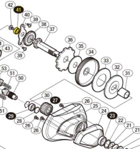 ドライブギア軸ボールベアリング