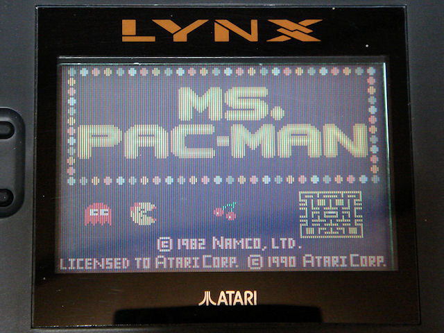 LYNX版「Ms.PAC-MAN」 写真1