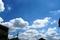晴れた夏の空にそびえる入道雲(2008年8月7日、自宅付近にて)