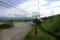 白根火山ロープウェイ、山麓駅を出発。(2008年8月29日)