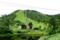 草津白根山、夏のスキーリフトと鏡池(2008年8月29日)