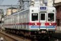 [京成]金町線往復運用に就く古参車3300形(2009年3月21日、金町~柴又間にて)