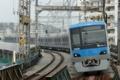 [小田急]4058Fの試運転:二往復目(2009年8月5日、厚木駅にて)