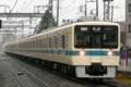 [小田急]悪天の中飛ばす8057F快速急行(2010年3月7日、東林間駅にて)