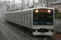 [小田急]冷たい雨の中行く3252F片瀬江ノ島行き(2010年3月7日、東林間駅にて)