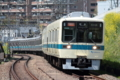 [小田急]S字曲線を通過する8000形快速急行(2010年4月18日、百合ヶ丘駅にて)