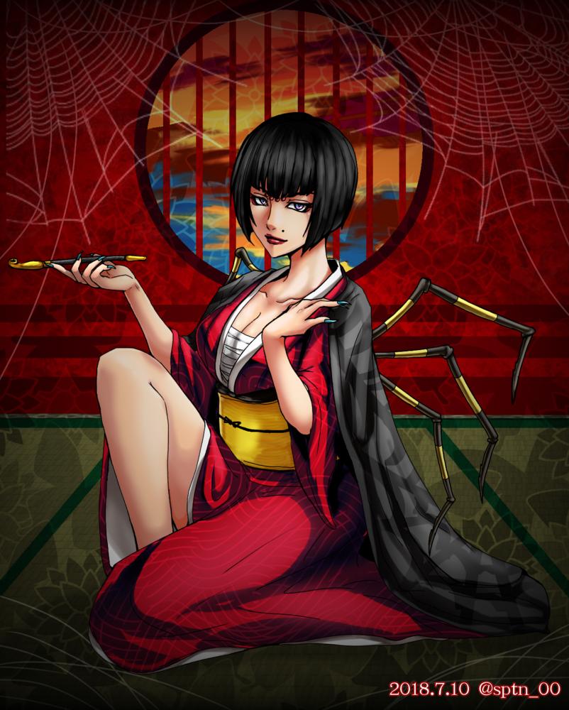 ギルティ妖怪パロ合作企画/女郎蜘蛛イノ