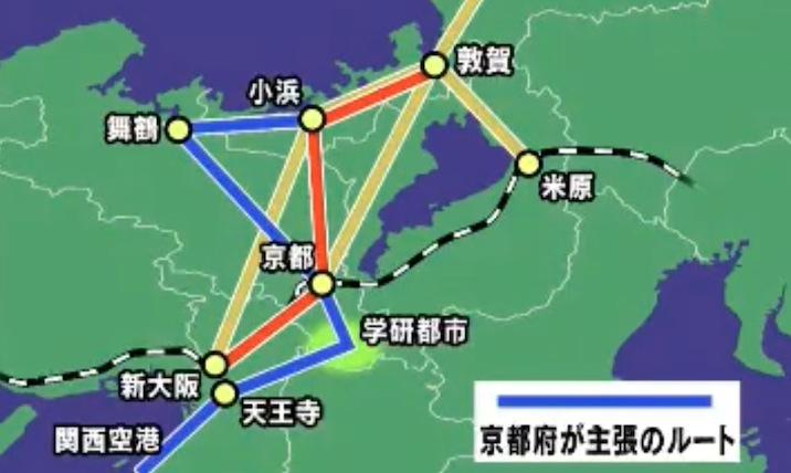 画像:NHKが報じた北陸新幹線の福井・敦賀以西のルート案