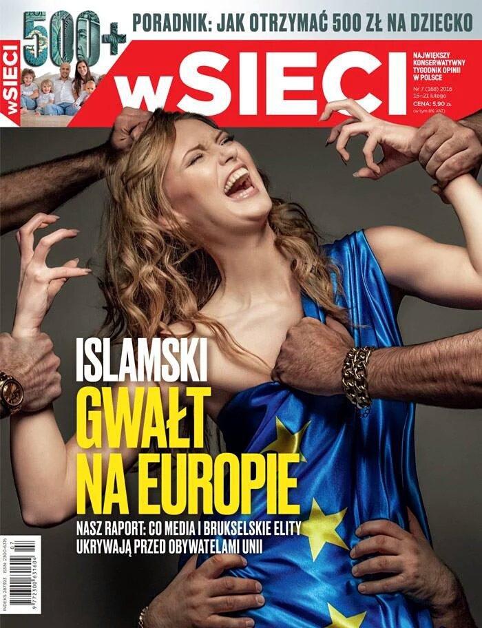 画像:物議を引き起こしたポーランドの雑誌