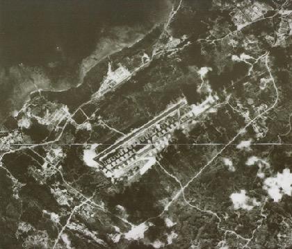 画像:普天間飛行場の航空写真(1945年当時)