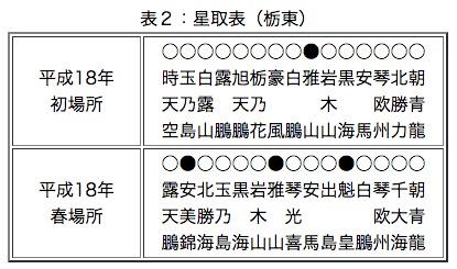 画像:栃東が残した成績