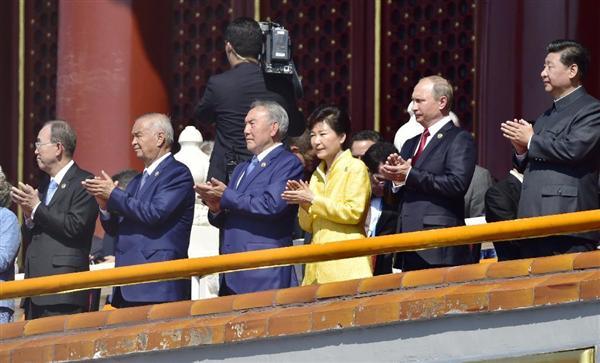 画像:シー・ジンピン(習近平)総書記から手厚い歓迎を受けたパク・クネ大統領