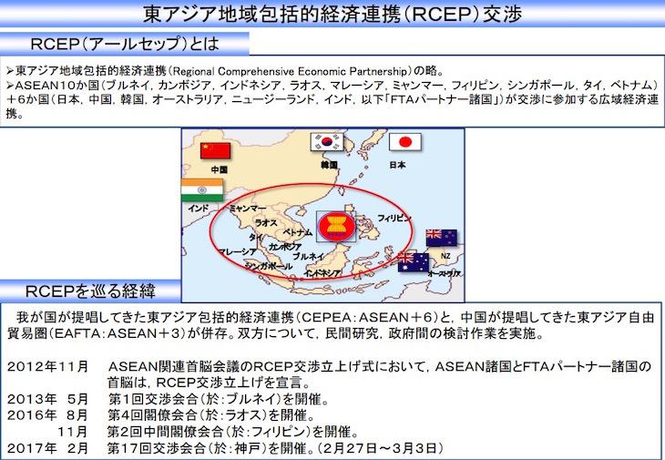 画像:RCEP 加盟交渉参加国
