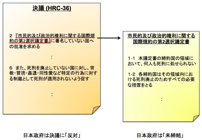 画像:決議に含まれた問題点